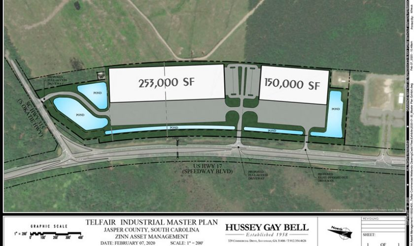 Telfair Commercial Industrial Layout